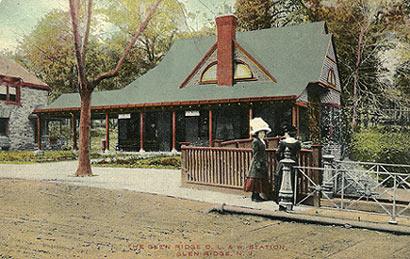 Postcard of Glen Ridge Train Station from 1915.